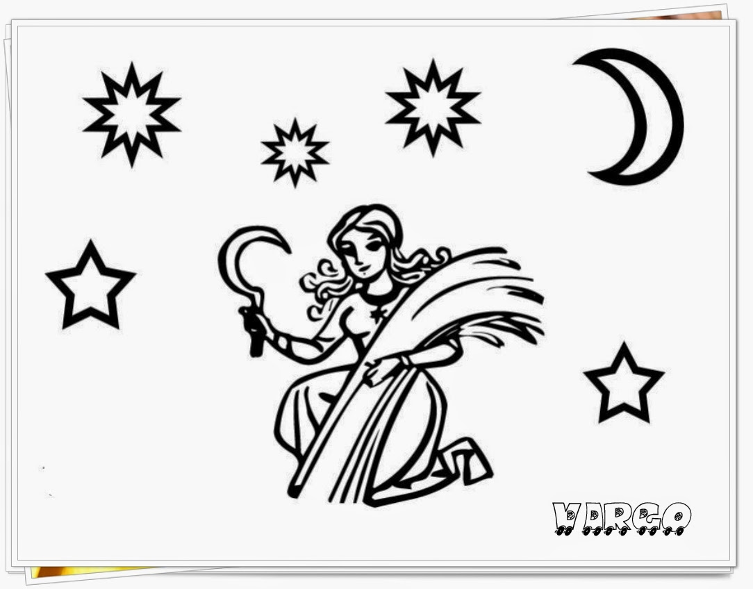 virgo printable zodiac coloring pages