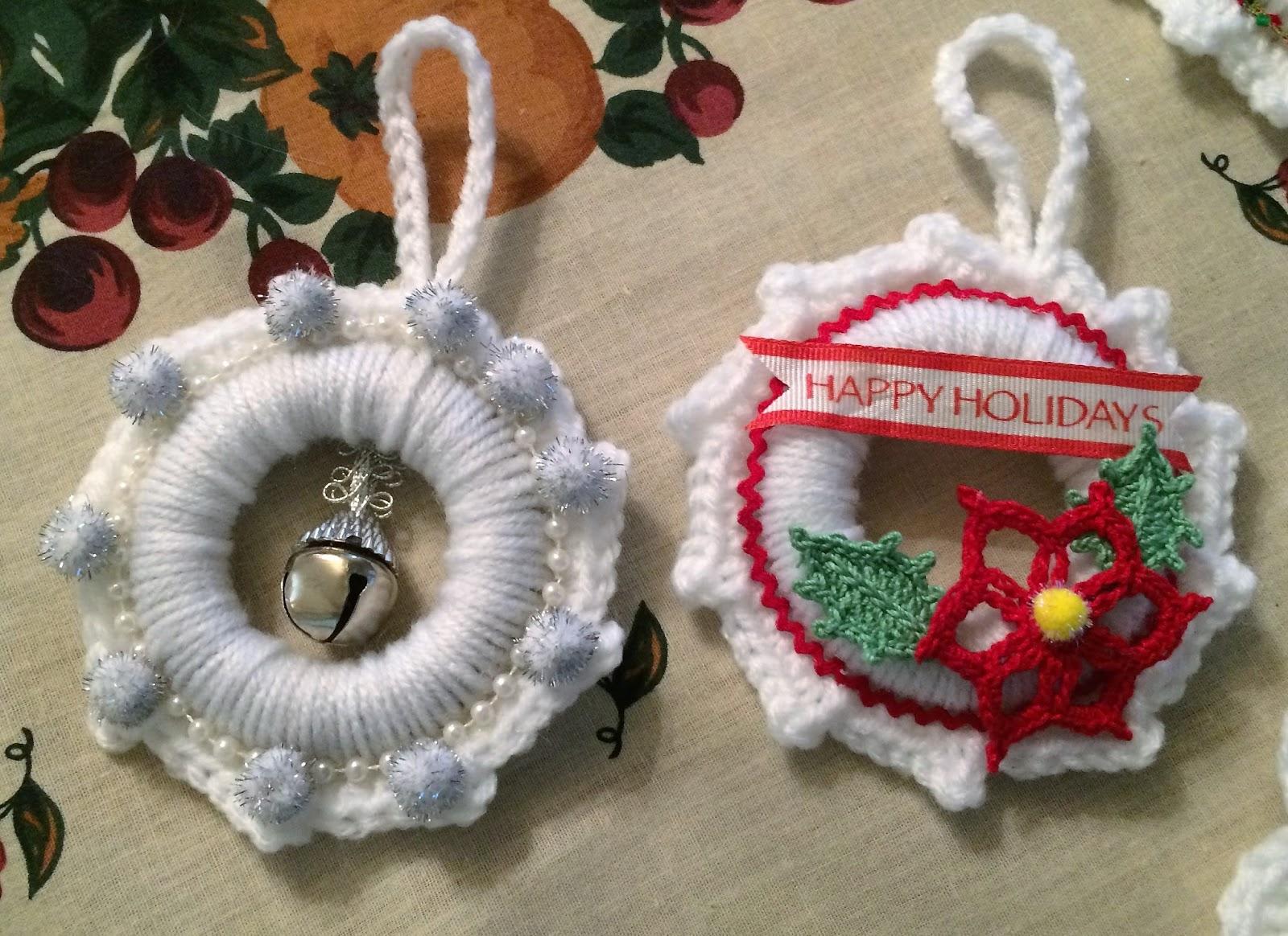 Creative Quest: White Crochet Wreath Ornaments