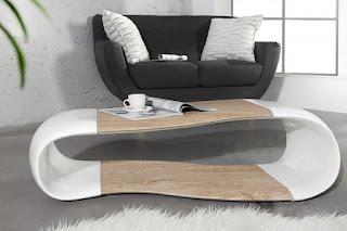 Luxusní konferenční stolek v bílej barvě Reaction.