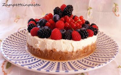Cheesecake ai frutti di bosco - Cheesecake senza cottura