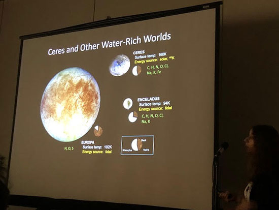 Water rich Ceres considered as more easy exploration target (Source: COSPAR/Julie Casdillo-Regez)