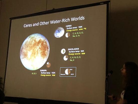Water rich Ceres considered as more easy exploration target (Source: COSPAR/Julie Casdillo-Regez)