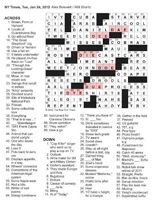 The New York Times Crossword in Gothic: 01.24.12 — D, A/E ...