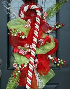 A mi manera adornos navide os para la puerta - Adorno puerta navidad ...