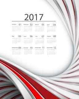 2017カレンダー無料テンプレート194