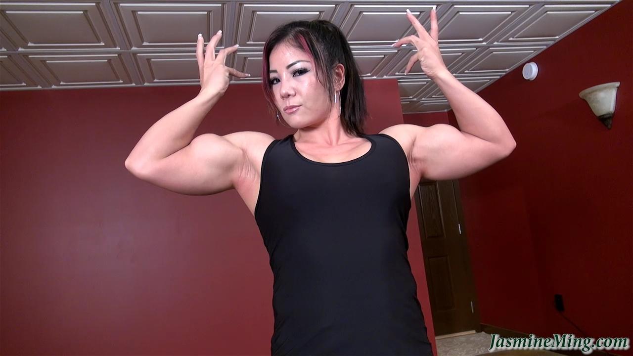 Girls biceps asian