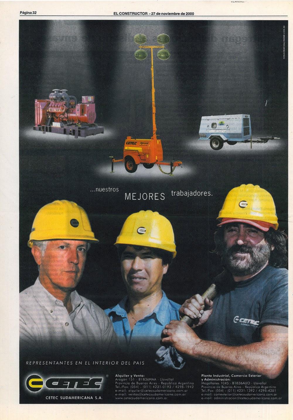 diseño de avisos para CETEC SUDAMERICANA
