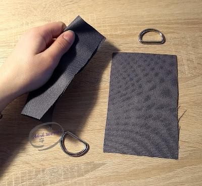 Adzik tworzy - DIY jak przyszyć pasek do torby
