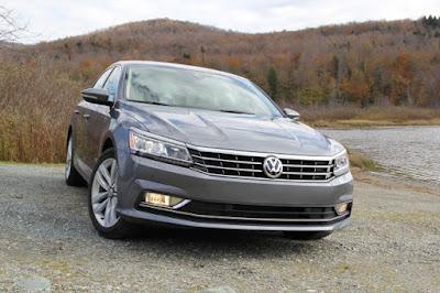 2016 New Volkswagen Passat test performance front view