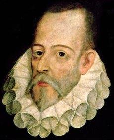 Retrato de Miguel de Cervantes Saavedra a color