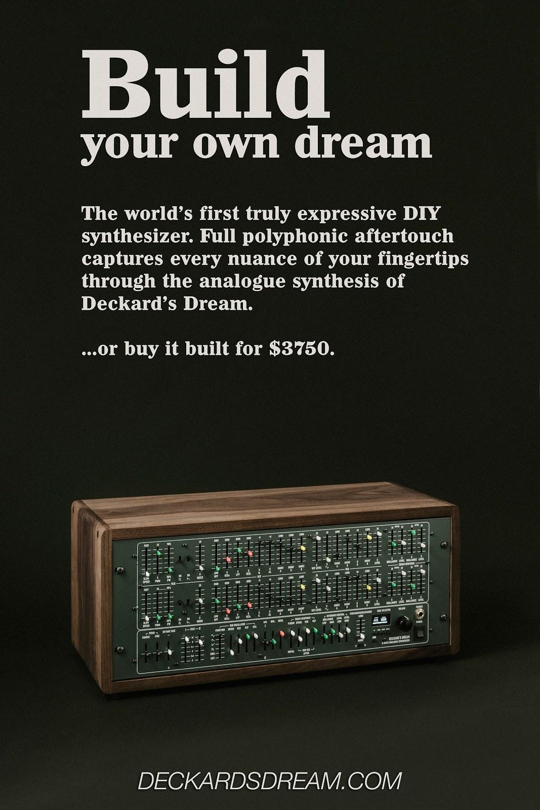 MATRIXSYNTH: Deckard's Dream Website Live - 1st Official Trailer & Demos
