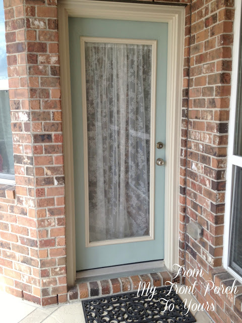 Patio Door- Duck Egg- Chalk Paint-Front My Front Porch To Yours