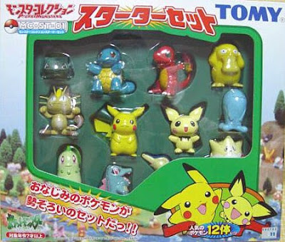 Pichu figure Tomy Monster Collection GS Starter set