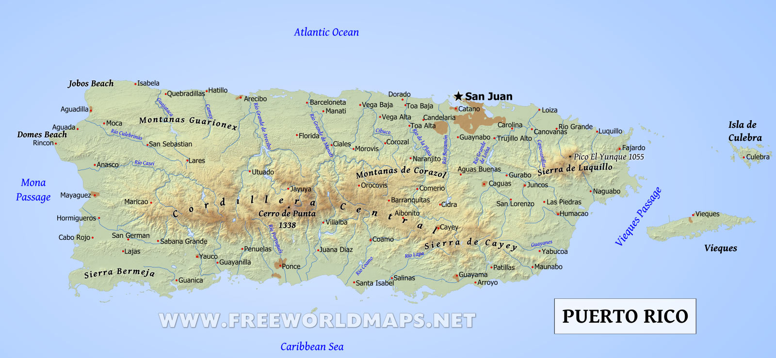Puerto Rico Map - Car Radio | GPS