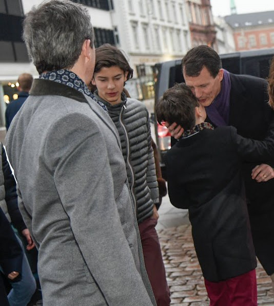 Crown Princess Mary,  Princess Isabella,  Princess Marie. wore JOSEPH Double Cashmere Oslo Coat and Prada boots