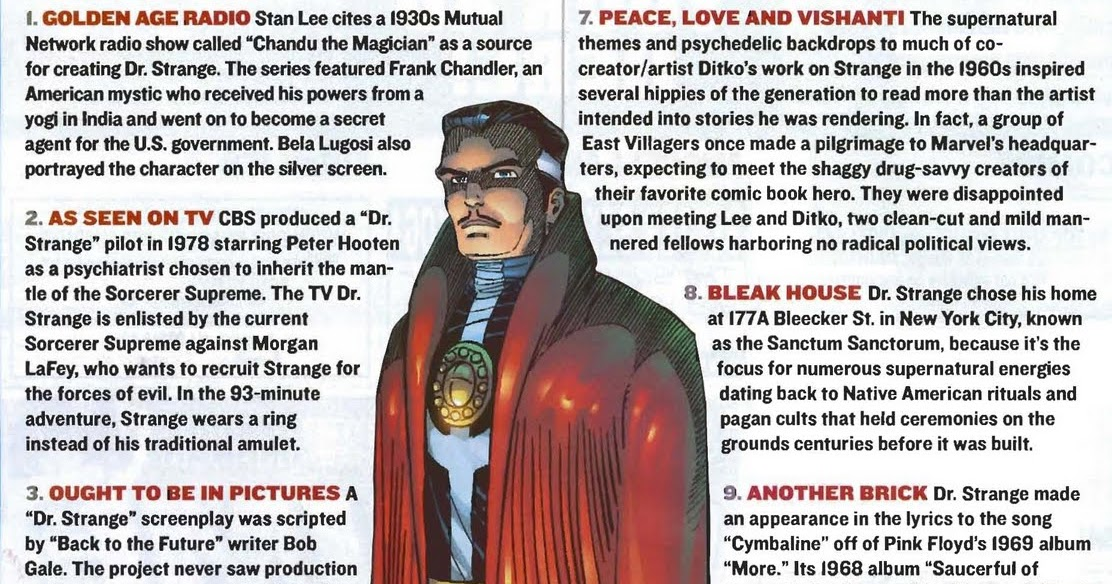 The Dork Review: Dr  Strange Fun Facts