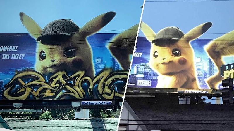 Who Tagged the Pokémon Billboard? 'Criminologist Pikachu' On the Case