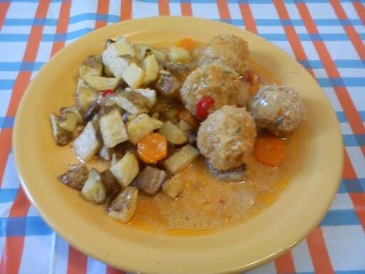 La cocina de los duendes alb ndigas de avena en salsa de - Salsa para verduras al horno ...