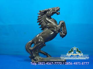 Patung Kuda Marmer Hitam | Patung Marmer Hoki