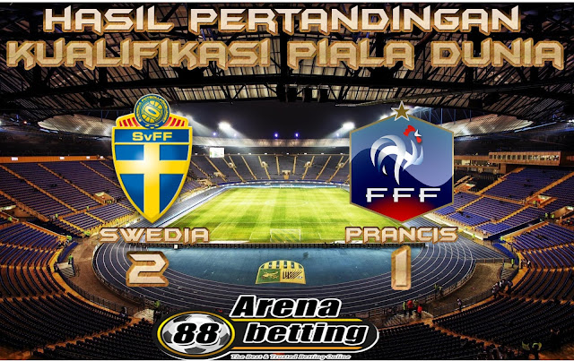 Hasil Pertandingan Swedia vs Prancis: Skor 2-1