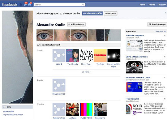 now this is a creative facebook profile