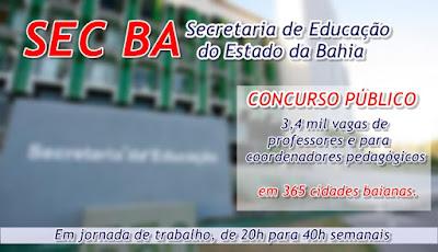 Apostila professor SEC/BA - Secretaria da Educação da Bahia.