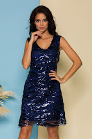 Rochie Ella Collection Lulu bleumarin