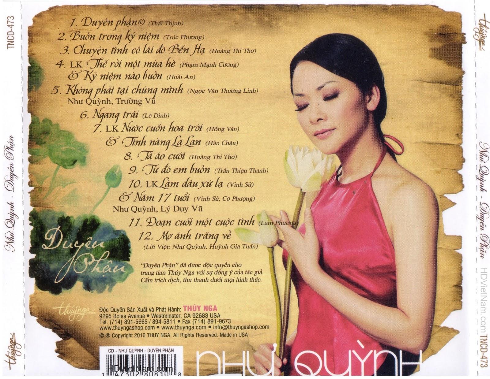 Chia sẻ nhạc Lossless & Lossy: TNCD 473: Như Quỳnh - Duyên
