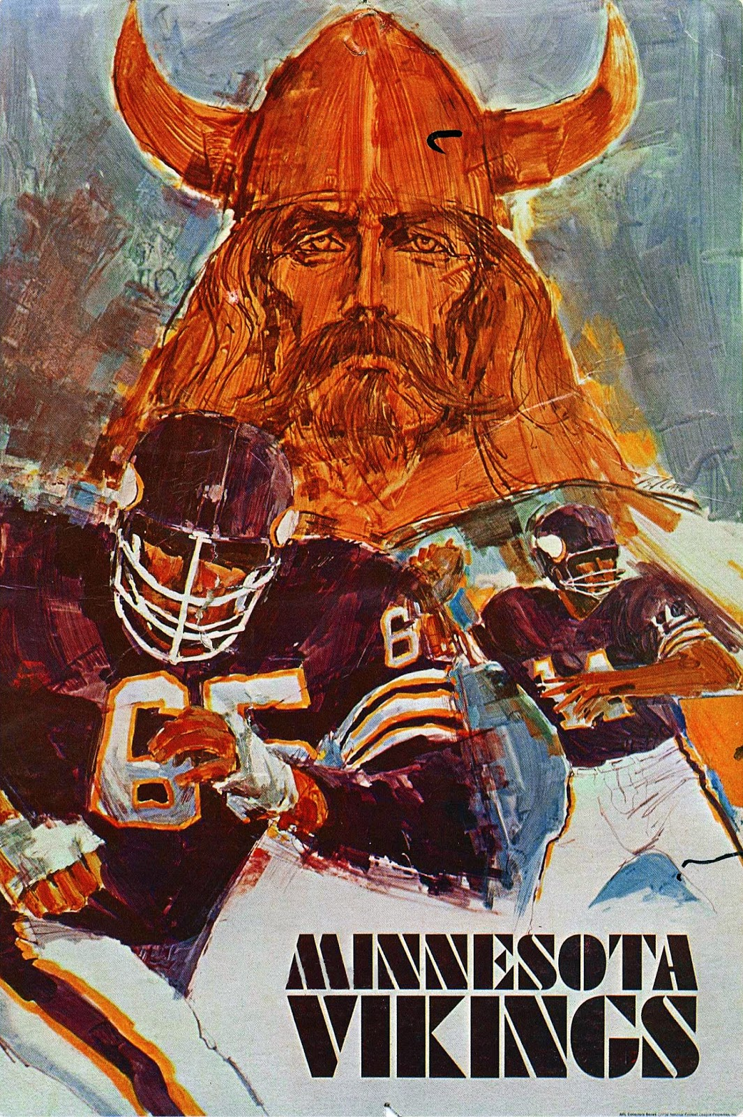 Pro Football Journal 1968 Afl And Nfl Poster Series By Hoyle