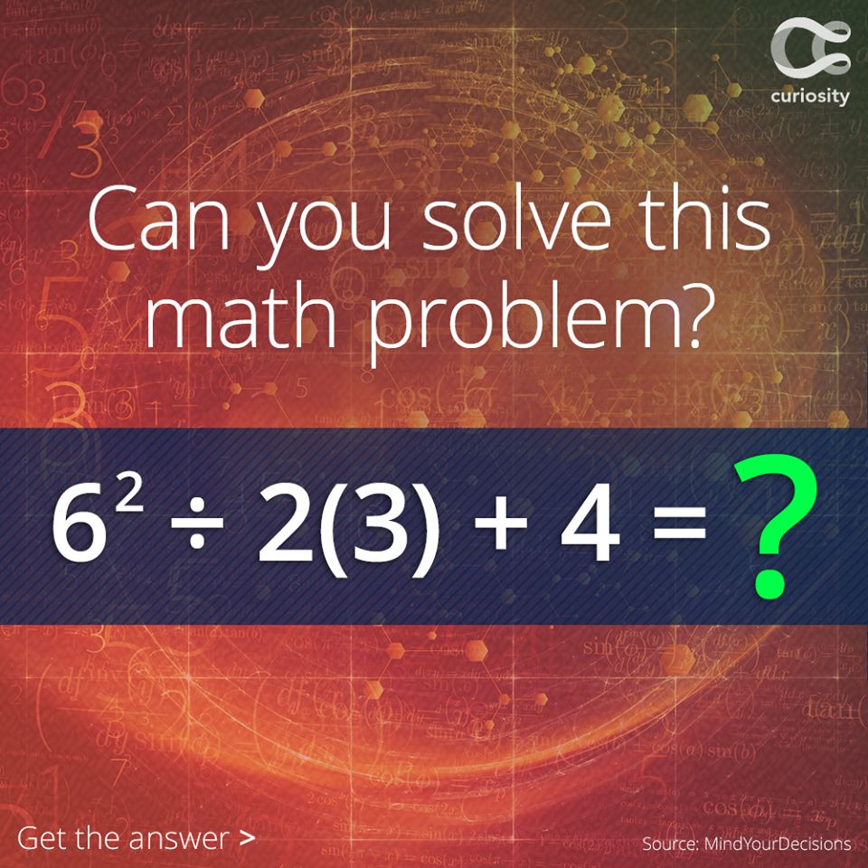 Can You Solve This Math Problem With The Order Of Operations ...