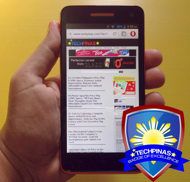 MyPhone Agua Rio, TechPinas Badge of Excellence