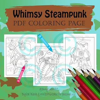 whimsy doodle steampunk sea life bundle 1