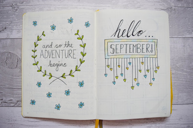 Bullet Journal September Set Up What Cat Says