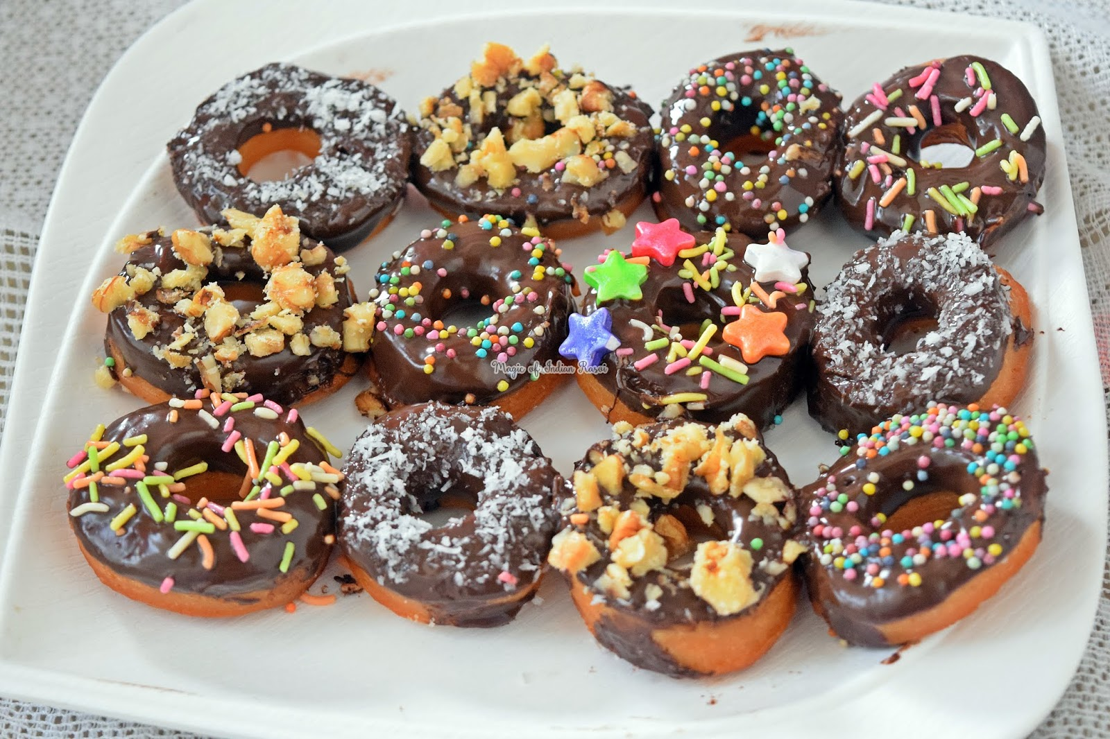 Eggless Donuts Recipe (Soft & Spongy) - 1