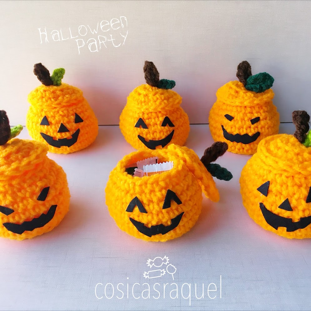 cosicasraquel: Mini Cesta Calabaza Halloween