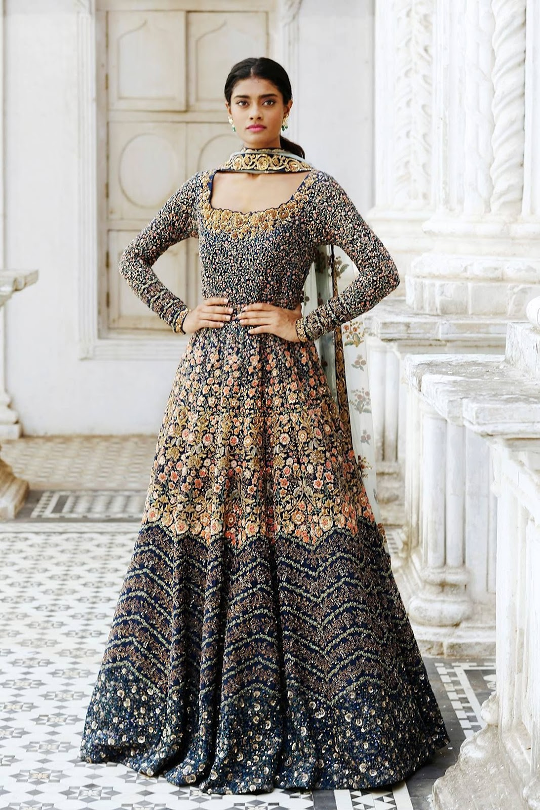 5ed1bccade9e If you are not yet ready for the Diwali bash or the upcoming most awaited  wedding, this royal floor length Anarkali suit will make your fashion hunt  easy.