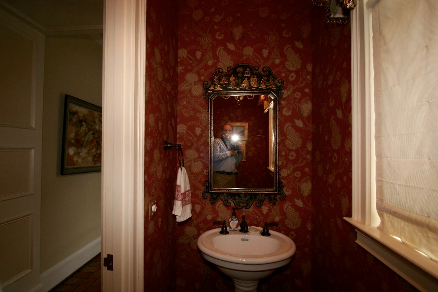Room Before Foyer : Before and after powder room foyer design indulgence