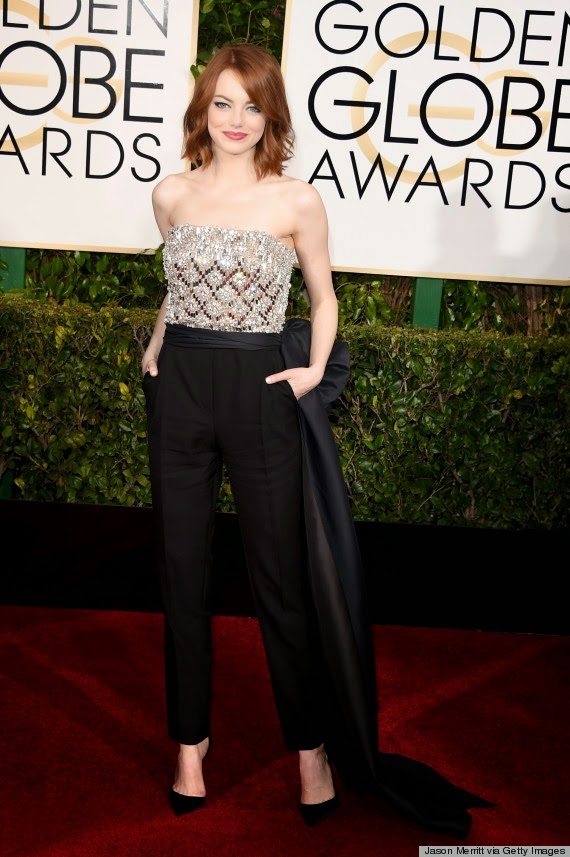 Emma Stone best dressed at Golden Globe Awards 2015