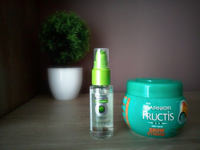 avon serum za vrhove i garnier maska za kosu, avon advanced techniques, garnier fructis hair mask, shiny strong hair, against split ends