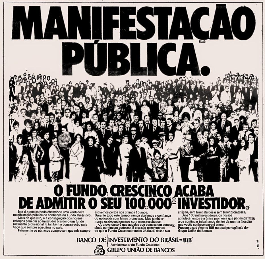 propaganda união de bancos década de 70; oswaldo hernandez;