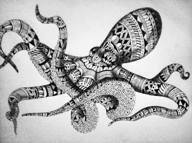 10-Octopus-Savanna-Zentangle-Wild-Animal-Drawings-www-designstack-co