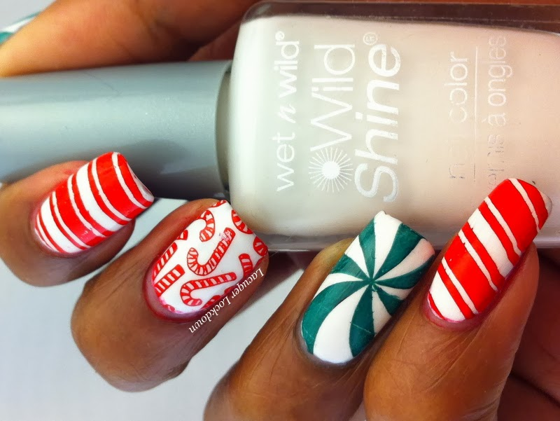Lacquer Lockdown Moyou London Candy Cane Nail Art