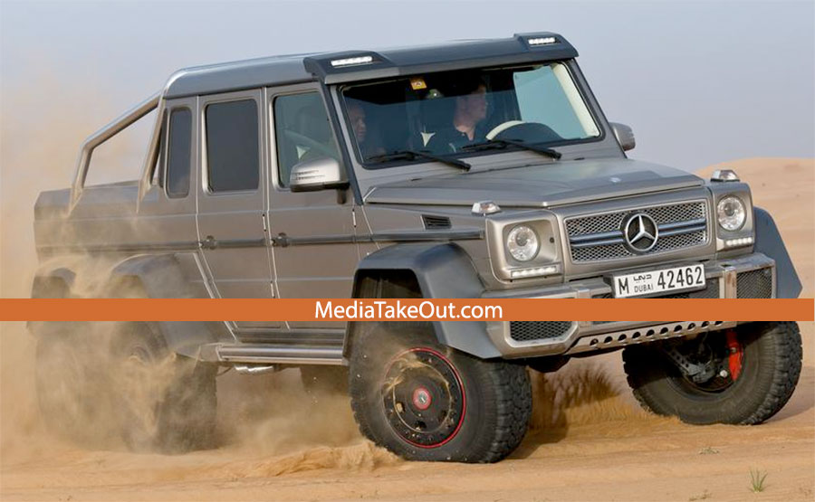 authentic mercedes launches new luxury pickup truck has 6 wheels. Black Bedroom Furniture Sets. Home Design Ideas