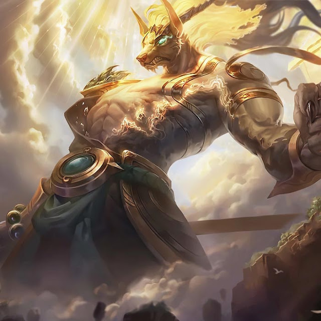 Lunar Guardian Nasus Animated Splash