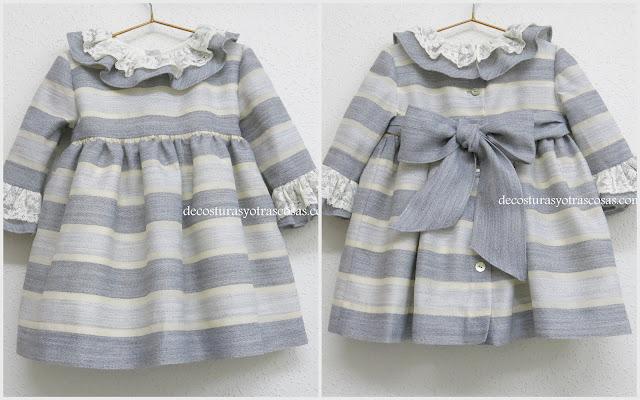 vestido refinado para niña