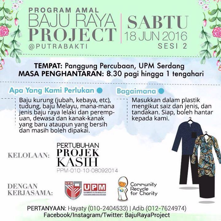 Gambar dan Surat Terbuka Untuk #BajuRayaProject