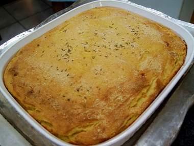 Pastel de yuca con queso