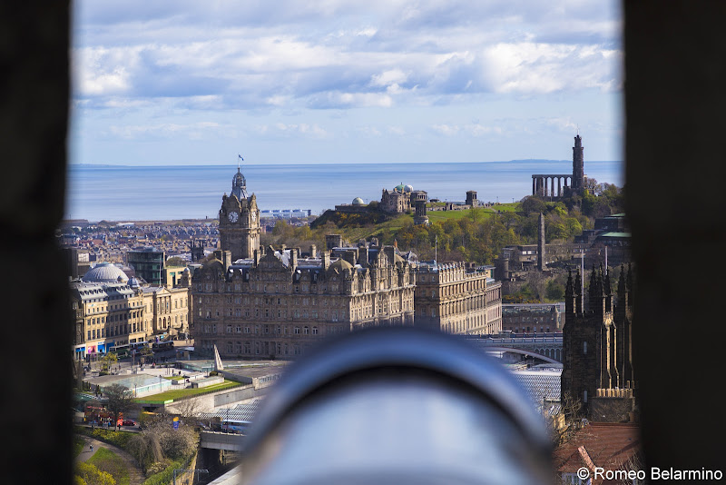 Edinburgh Castle Cannon View Best Castles in Scotland for a Road Trip Itinerary