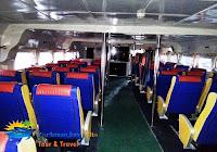 ruangan penumpang kapal cepat karimunjawa
