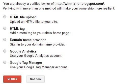 verifikasi blog ke google webmaster